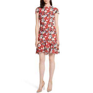 Alice + Olivia Imani Floral Fit & Flare Dress